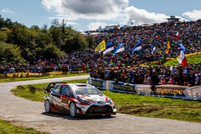 ADAC Rallye Deutschland Toyota Stage Panzerplatte