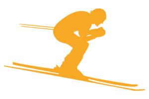 Skifahrer Illustration